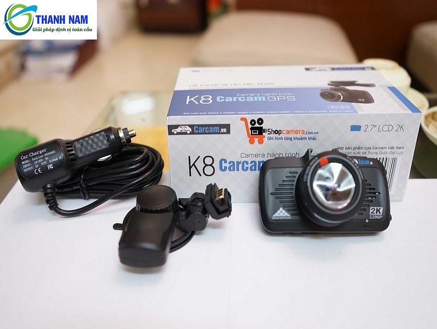 Trọn bộ sản phẩm camera hành trình k8