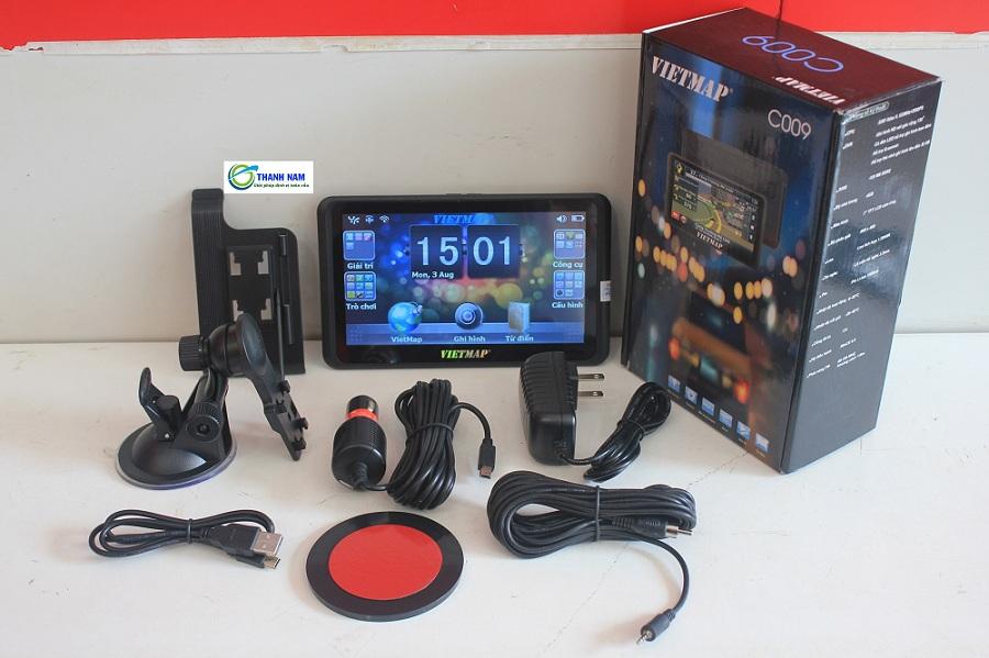 Trọn bộ thiết bị định vị dẫn đường vietmap C009