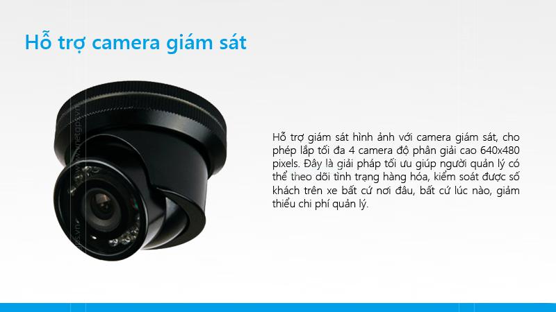 Thiết bị giám sát hành trình TG007 có thể kết nối với camera hành trình