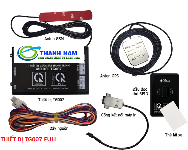 Trọn bộ thiết bị định vị xe ô tô TG007