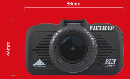 Camera hành trình vietmap K9 Pro ghi hình 2K được thiết kế tinh tế