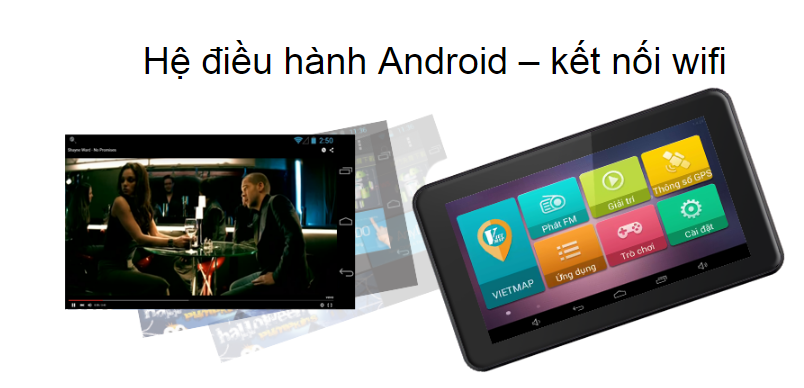 Thiết bị dẫn đường vietmap B70 màn hình khủng sử dụng hệ điều hành android