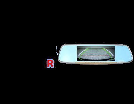 Vietmap G68 - Camera hành trình gương hiển thị camera lùi chia vạch