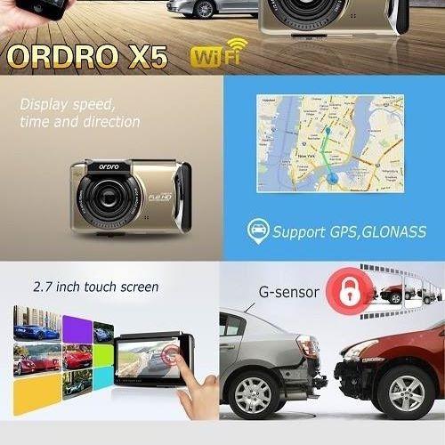 Camera hành trình X5 có kết nối wifi GPS