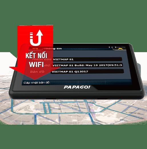 Thiết bị định vị dẫn đường waygo 810 được kết nối wifi