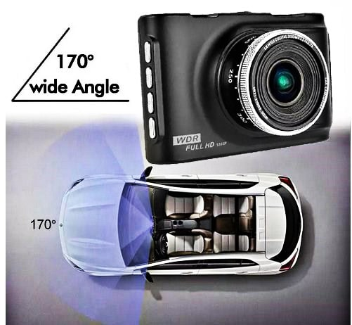 Camera hành trình K2 với góc quay 170 đôk