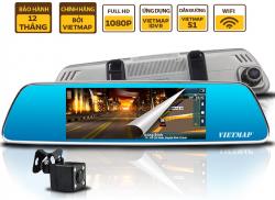 Thiết bị dẫn đường Vietmap IDVR P1, camera kép, 3G xem từ xa qua điện thoại