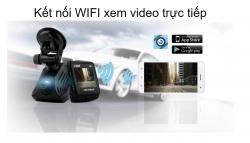 Camera hành trình Vietmap C62 ghi hình 2 mắt kết nối wifi