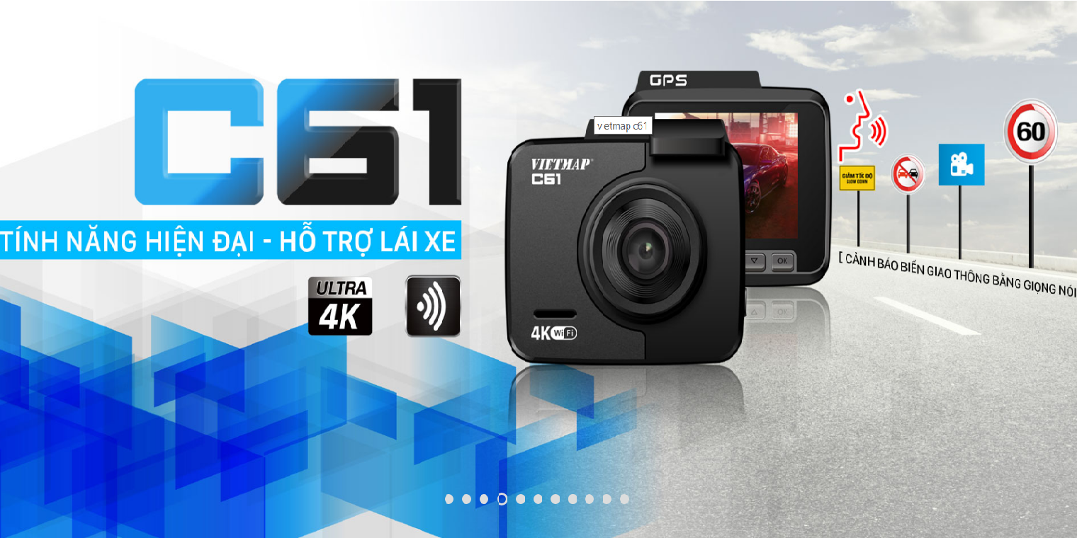 Camera hành trình Vietmap C61 ghi hình 4K, wifi, gps