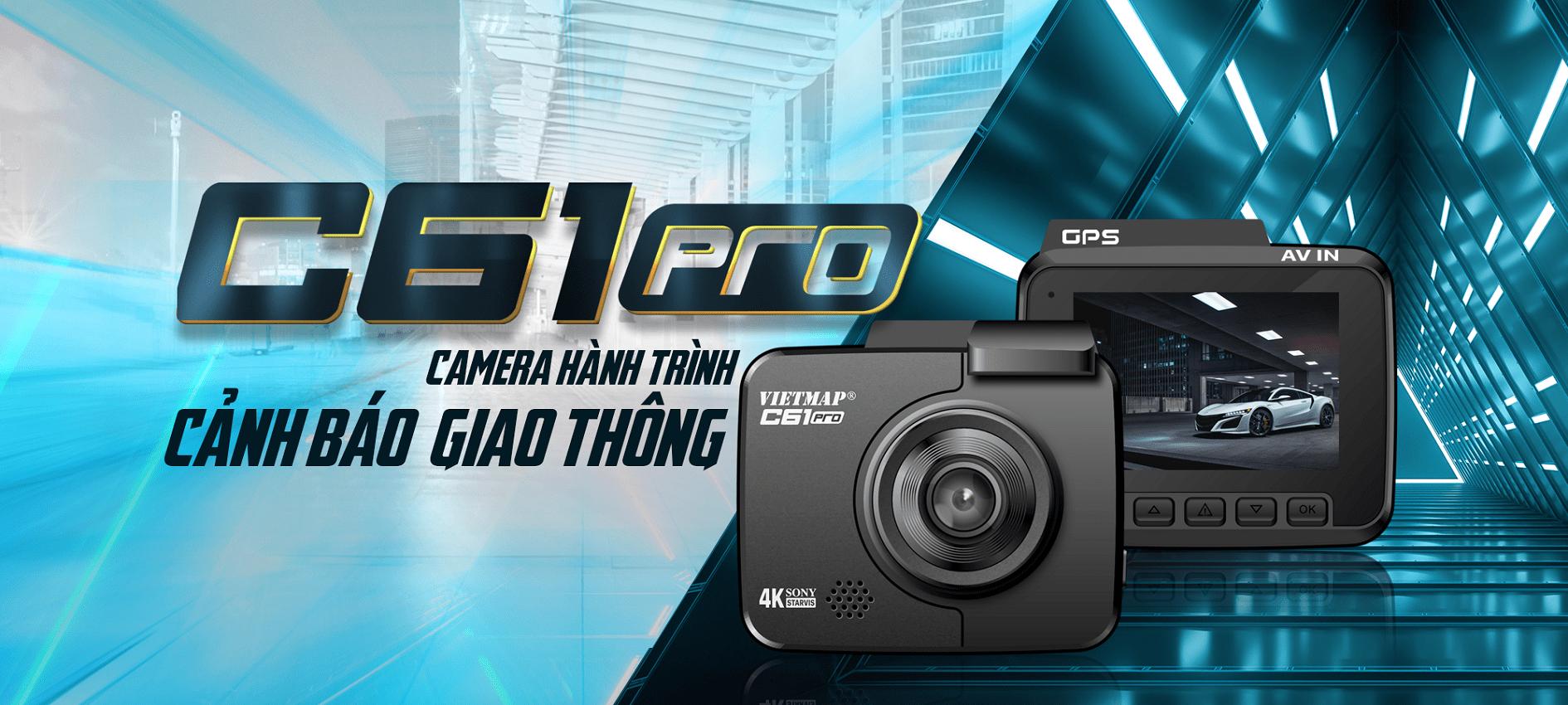 Camera hành trình Vietmap C61 Pro phiên bản 2021 ghi hình 4K, wifi, gps