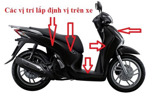 Các vị trí gắn thiết bị định vị cho xe máy