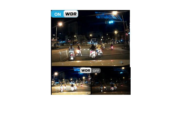 khả năng ghi hình ngược sáng WDR của camera hành trình xe Vietmap C5