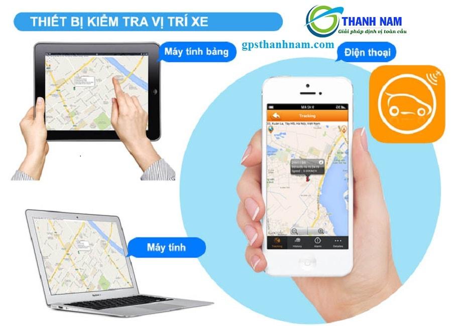 phần mềm quản lý xe trực tuyến của Thành Nam được sử dụng trên điện thoại, ipad, máy vi tính