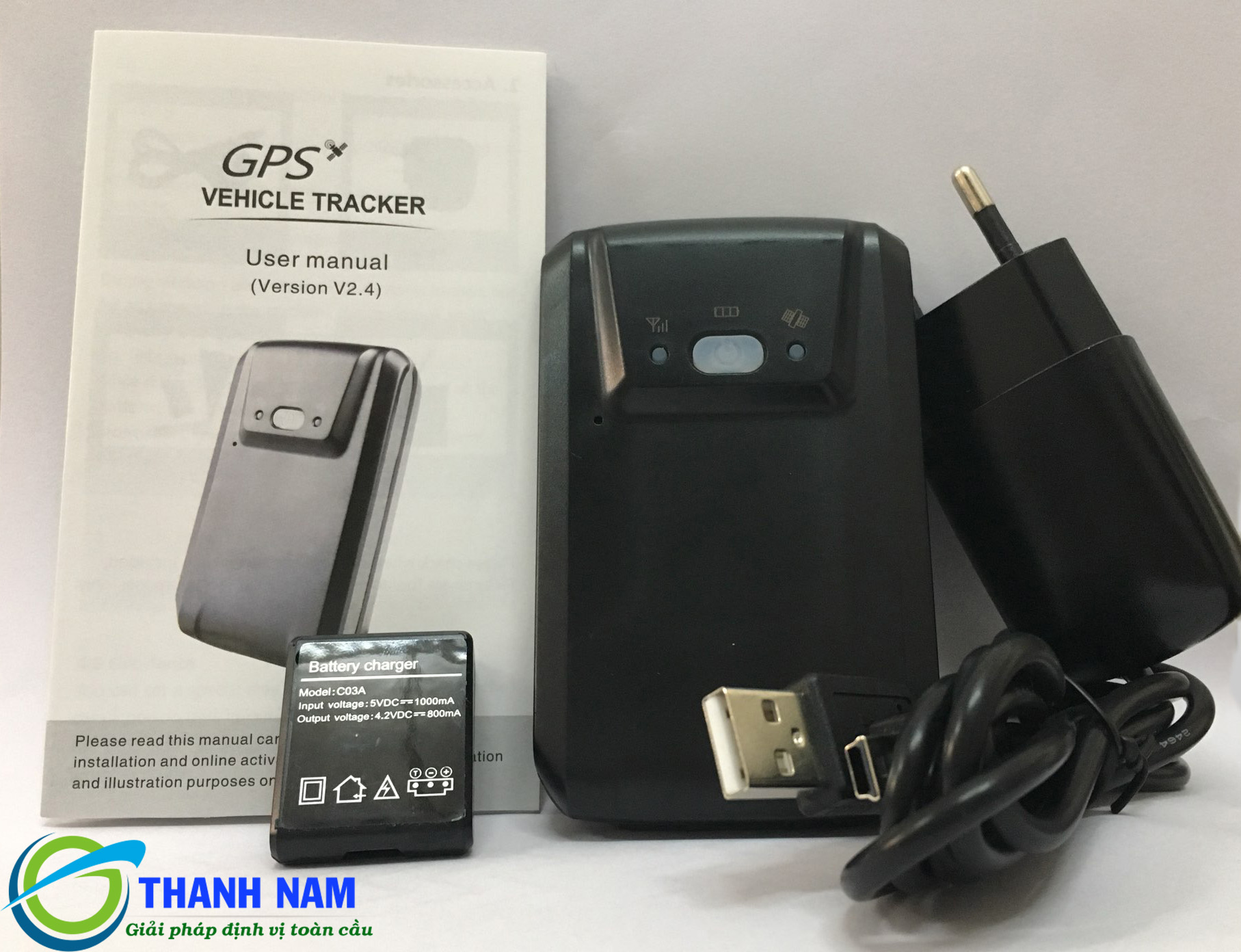Trọn bộ sản phẩm định vị cầm tay GT03A tại Thành Nam GPS