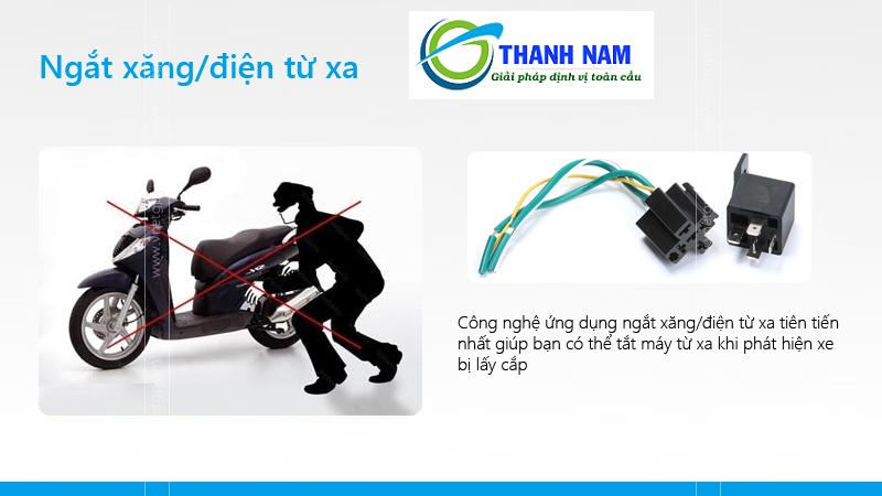 Thiết bị định vị xe máy PT08 cho phép bạn ngắt xe từ xa