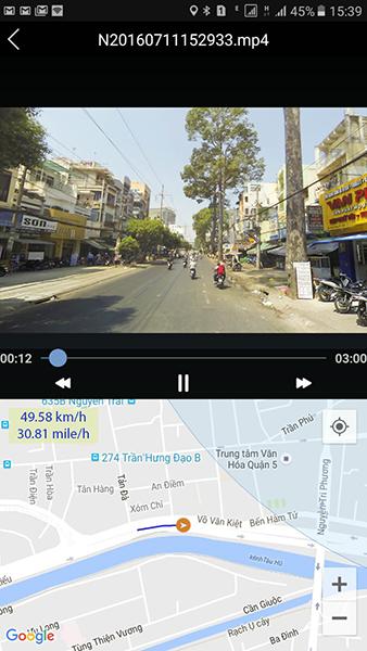 Ghi hình với thông tin bản đồ và định vị gps