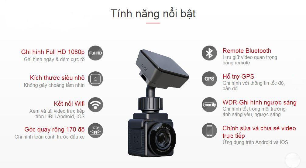 Những tính năng tiêu biểu của camera hành trình vietmap c1+