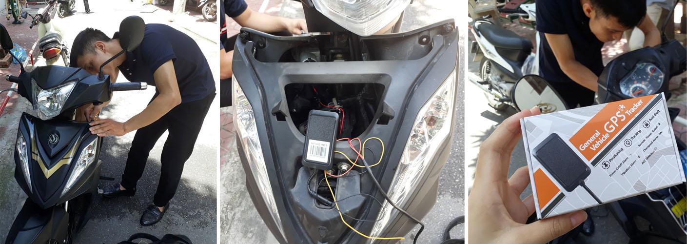 lắp thiết bị định vị xe máy tại hà nội - bảo hành 5 năm