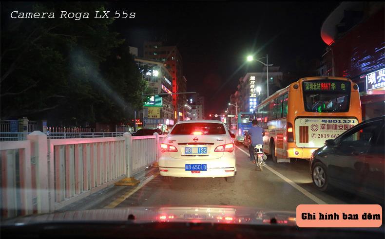 Camera Hành Trình ROGA Lx 55s có khả năng ghi hình ban đêm cực nét