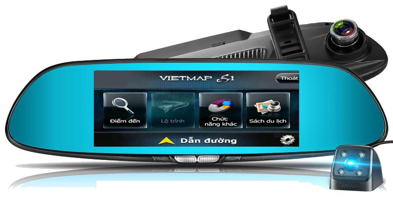 Camera Hành Trình Gương tích hợp dẫn đường GPS Lx55s