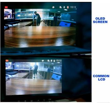 Camera hành trình Gương 2 mắt Roga LX2S Oled Samsung cho hình ảnh sắc nét