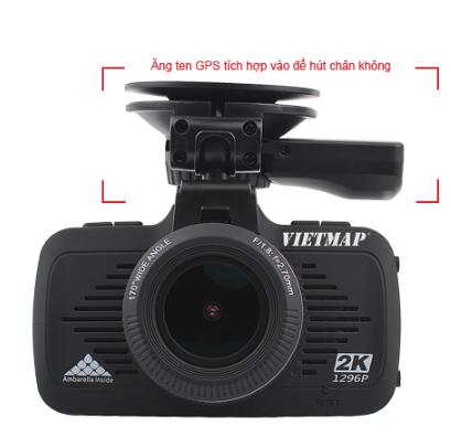 camera hành trình xe Vietmap K9 Pro có thiết kế nhỏ gọn - hiện đại và được tích hợp cả GPS