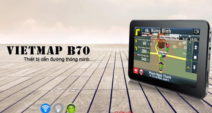Thiết bị dẫn đường thông minh vietmap B70 màn hình khủng
