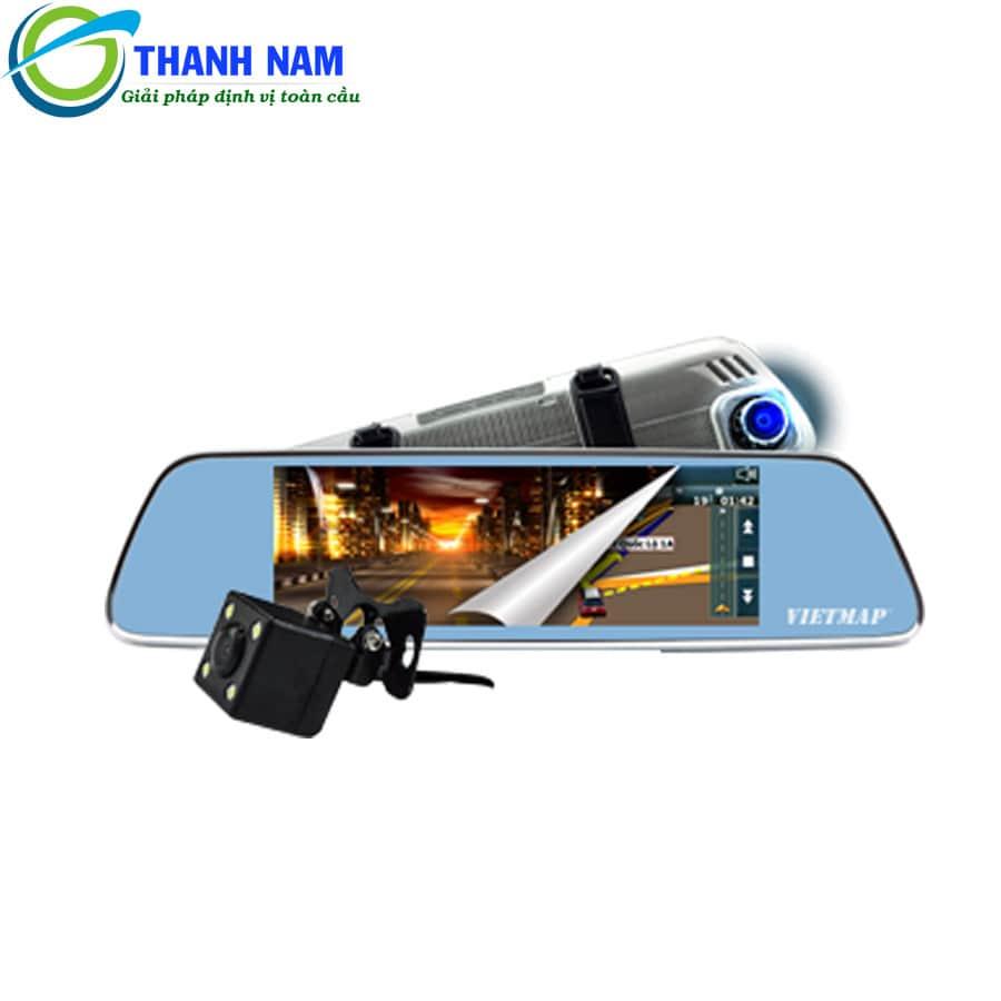 thiết bị dẫn đường kiêm camera hành trình gương Vietmap P1