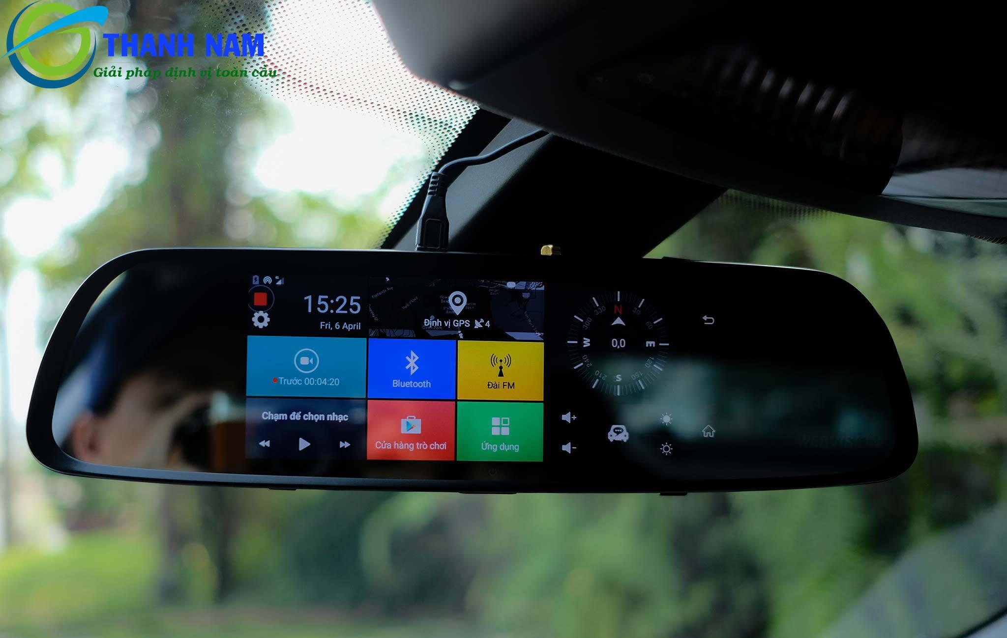 camera hành trình kiêm thiết bị dẫn đường cao cấp webvision m39 tại thành nam gps
