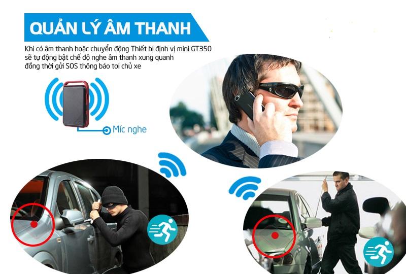 định vị cầm tay GT350 có khả năng nghe lén - giám sát âm thanh từ xa