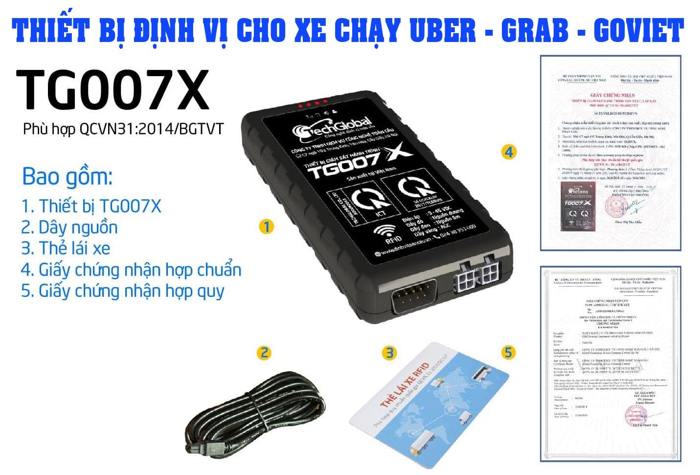Lắp thiết bị định vị hợp chuẩn cho xe chạy uber - grab tg007x
