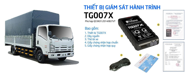 thiết bị định vị gps - giám sát hành trình xe tải tg007x