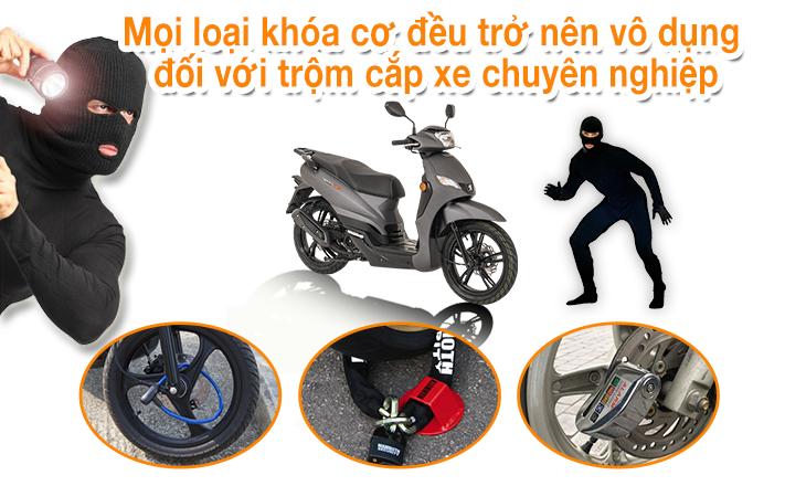 Lắp định vị xe máy là giải pháp hiệu quả nhất để phòng trộm cướp