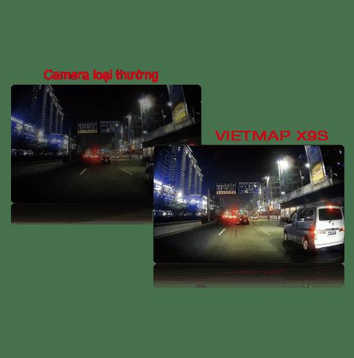 Vietmap X9S được trang bị cảm biến ảnh Sony ghi hình rõ nét ngay cả ban đêm