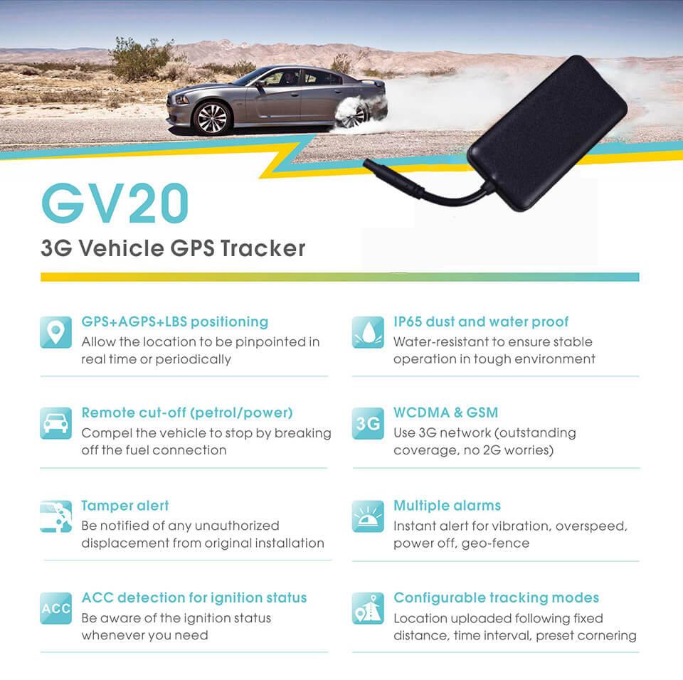 tính năng nổi bật của gv20 GPS Tracker