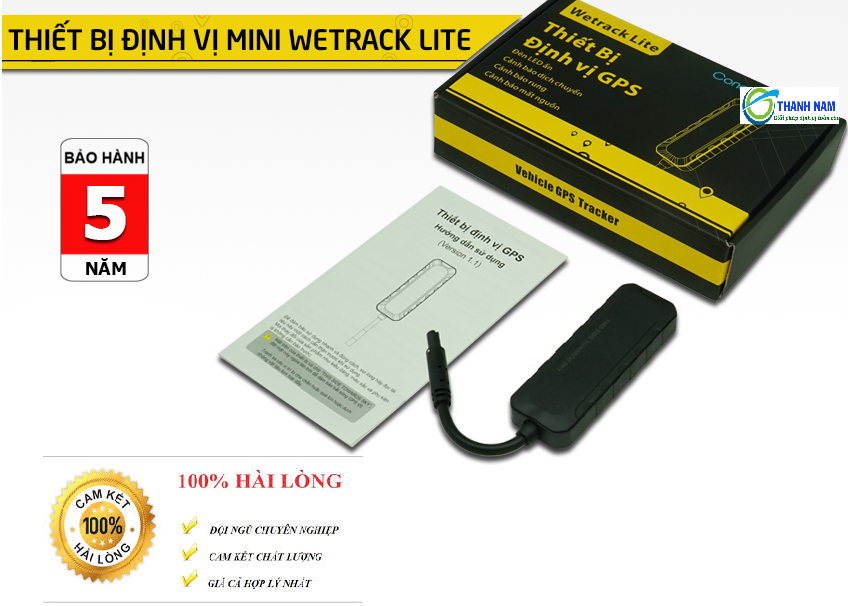 Thiết bị định vị xe máy wetrack lite mini siêu nhỏ, chính sách bảo hành lên tới 5 năm 1 đổi 1