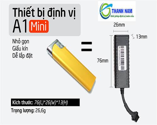 kích thước siêu nhỏ của thiết bị định vị xe máy a1 mini