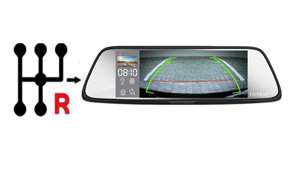 vietmap g79 có khả năng ghi hình trước sau - camera sau kiêm luôn camera lùi chuyên nghiệp