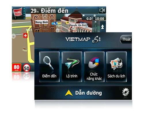 vietmap g79 sử dụng phần mềm dẫn đường thông minh vietmap s1