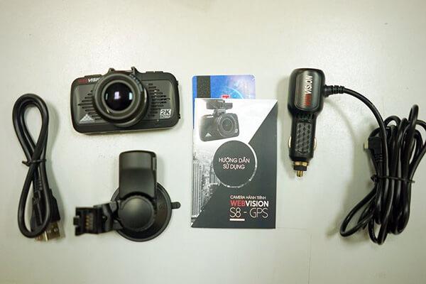 trọn bộ camera hành trình webvision s8 tại thành nam gps