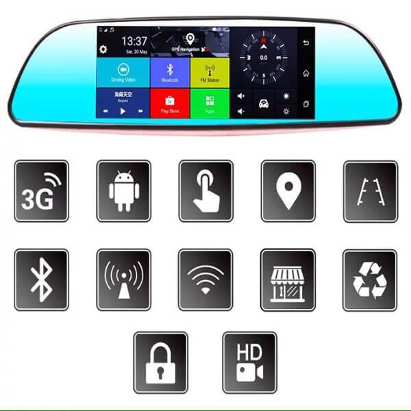 camera hành trình Firstscene C08 đa tính năng - hỗ trợ lái xe thông minh