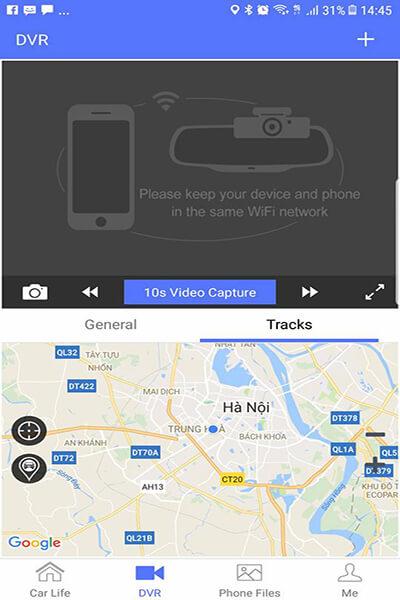 camera hành trình ô tô Firstscene C08 có khả năng vừa dẫn đường vừa ghi hình