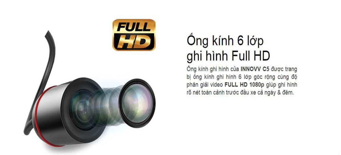 với ống kính 6 lớp thiết bị có khả năng ghi hình full HD cho chất lượng hình ảnh sắc nét và chân thực tuyệt đối