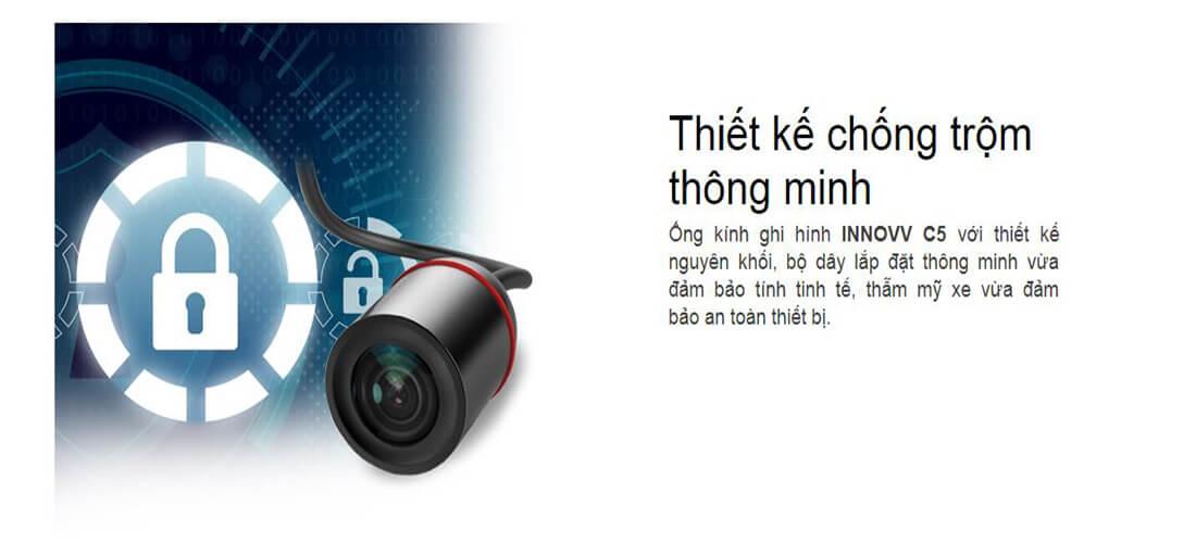 camera hành trình ô tô vietmap innovv c5 có khả năng chống trộm thông minh