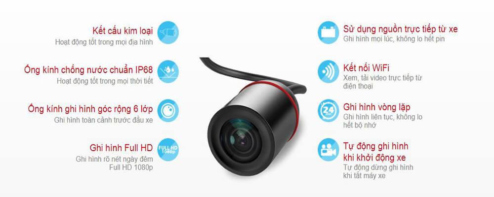 Vietmap Innovv C5 là một chiếc camera hành trình xe máy đa tính năng