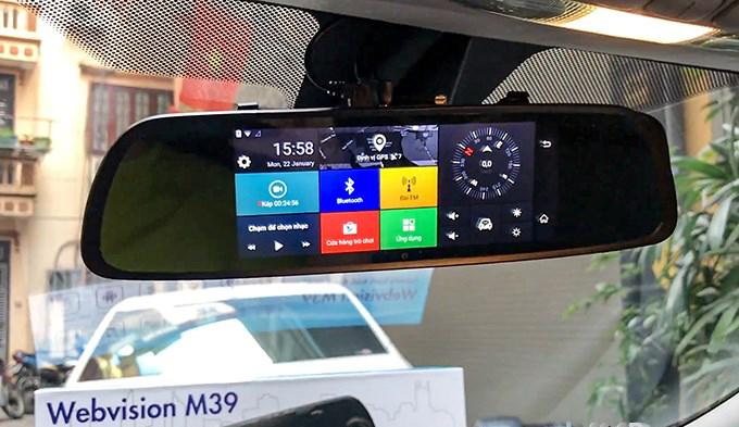 lắp đặt camera hành trình webvision m39 tại thành nam gps