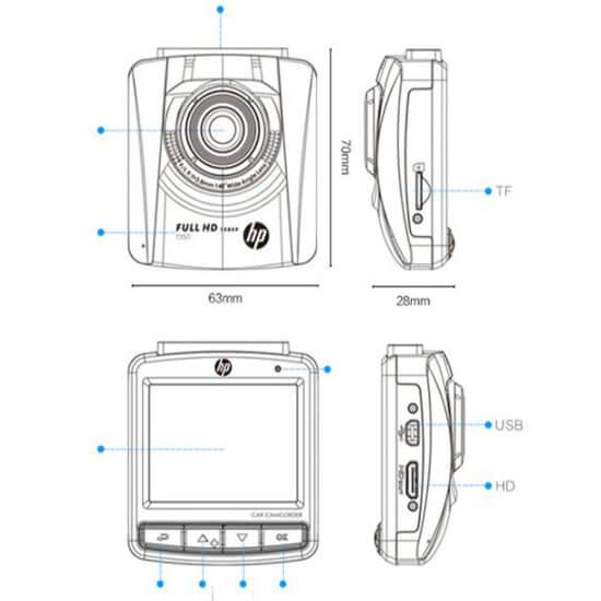các bộ phận của một chiếc camera hành trình hp
