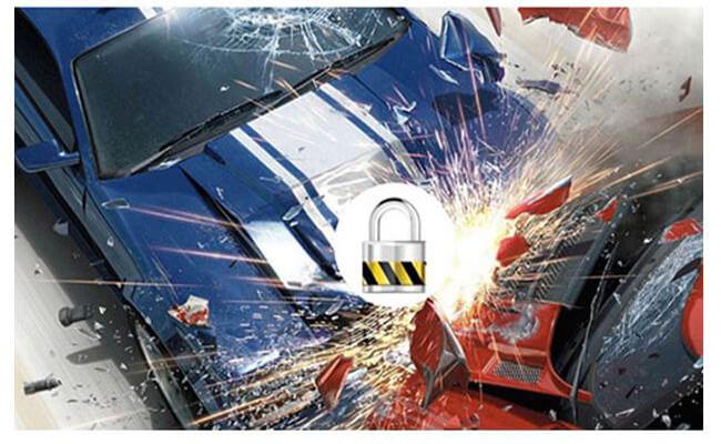 hp f350 còn được trang bị cảm biến va chạm - tự động bảo vệ video khi có xảy ra va chạm hoặc tngt