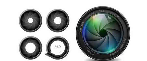cận cảnh ống kính ghi hình của camera hành trình hp f350