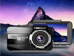 Camera hành trình HP F870G ghi hình 2 mắt trước sau